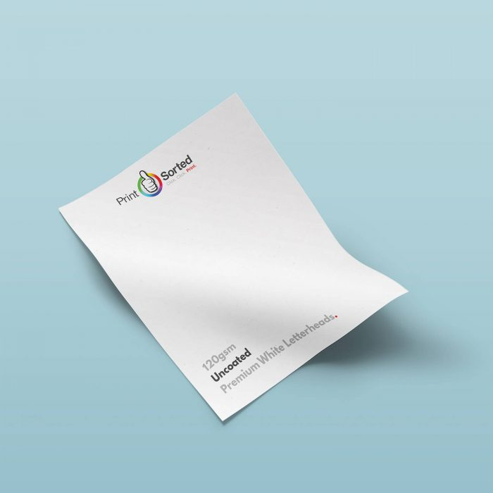 120gsm Uncoated Premium White Letterheads by printsorted