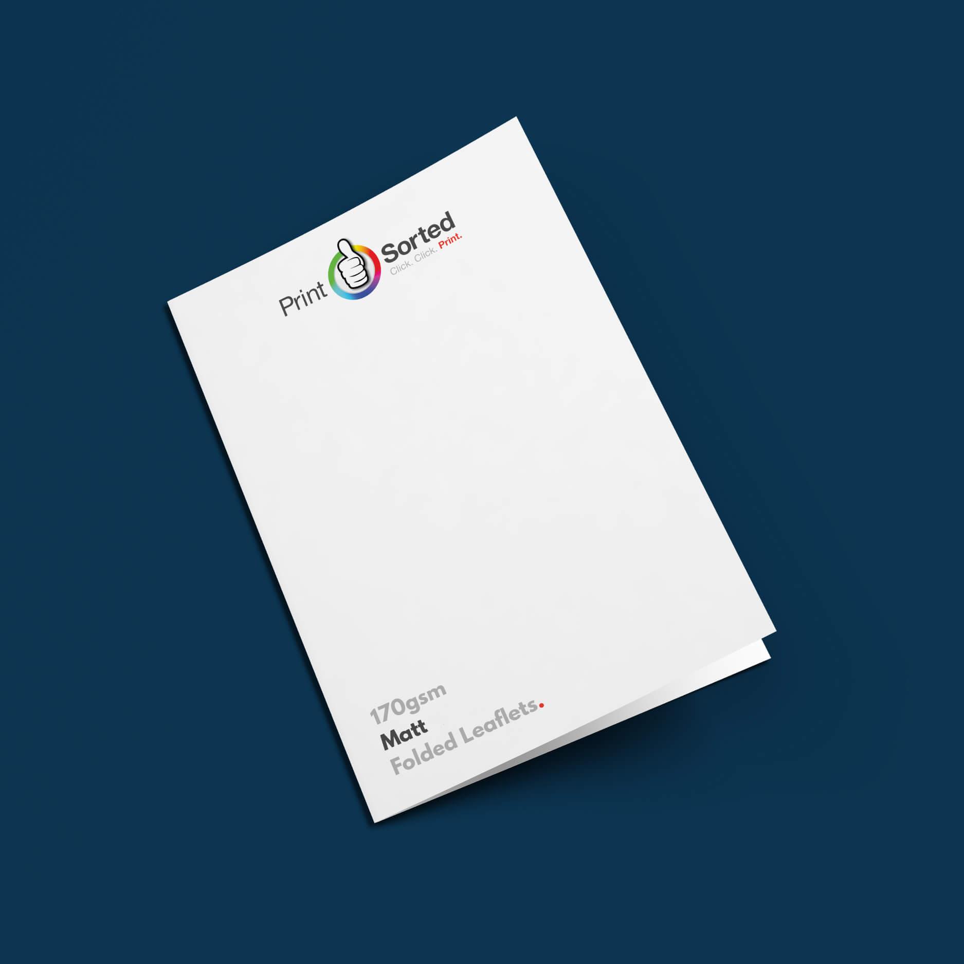 170gsm Matt Folded Leaflets by printsorted