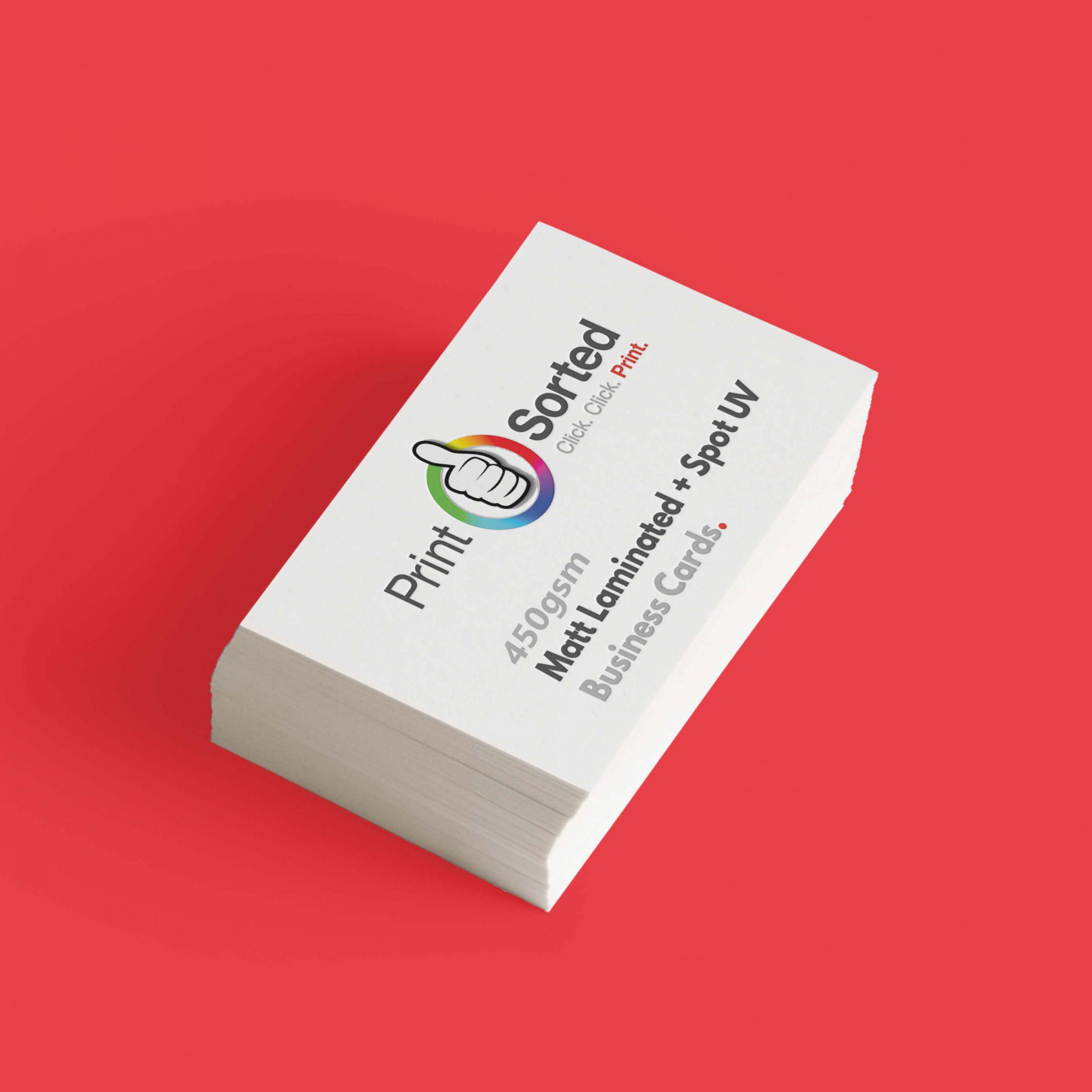 450gsm Spot UV Matt Laminated Business Cards