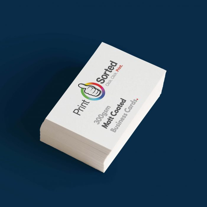 300gsm Matt Coated Business Cards by printsorted