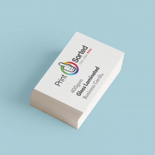 400gsm Gloss Laminated Business Cards by printsorted