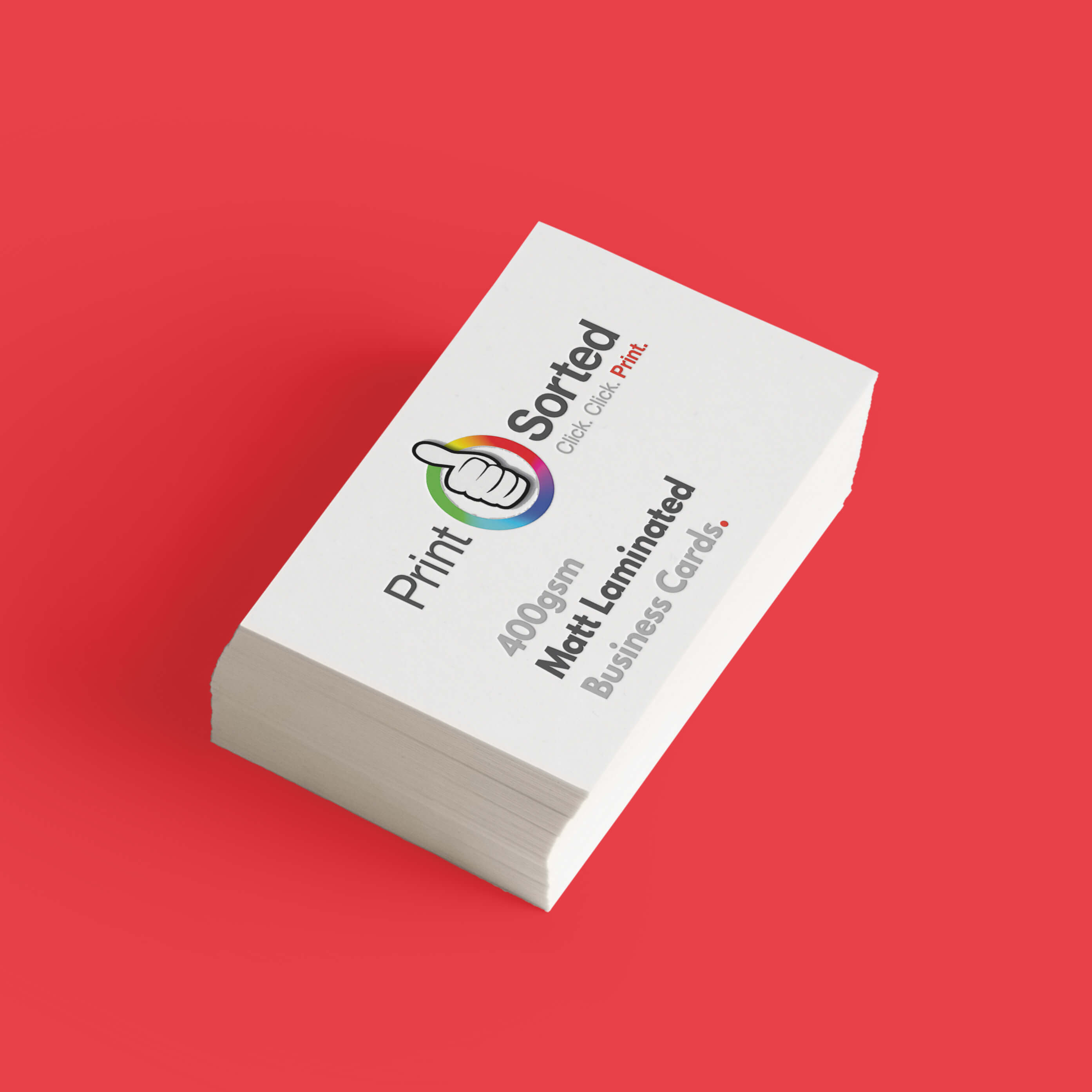 400gsm Matt Laminated Business Cards by printsorted