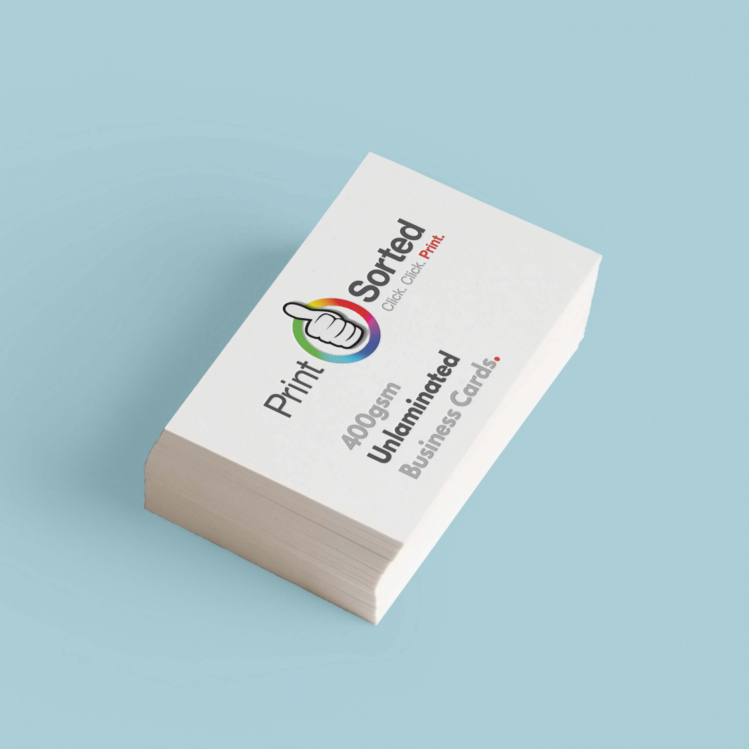 400gsm Unlaminated Business Cards by printsorted