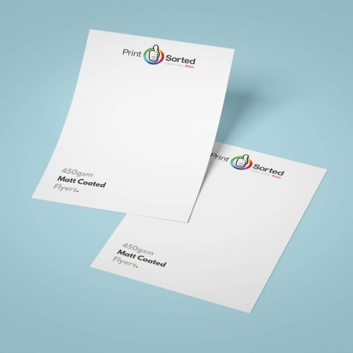 450gsm Matt Coated Flyers by printsorted