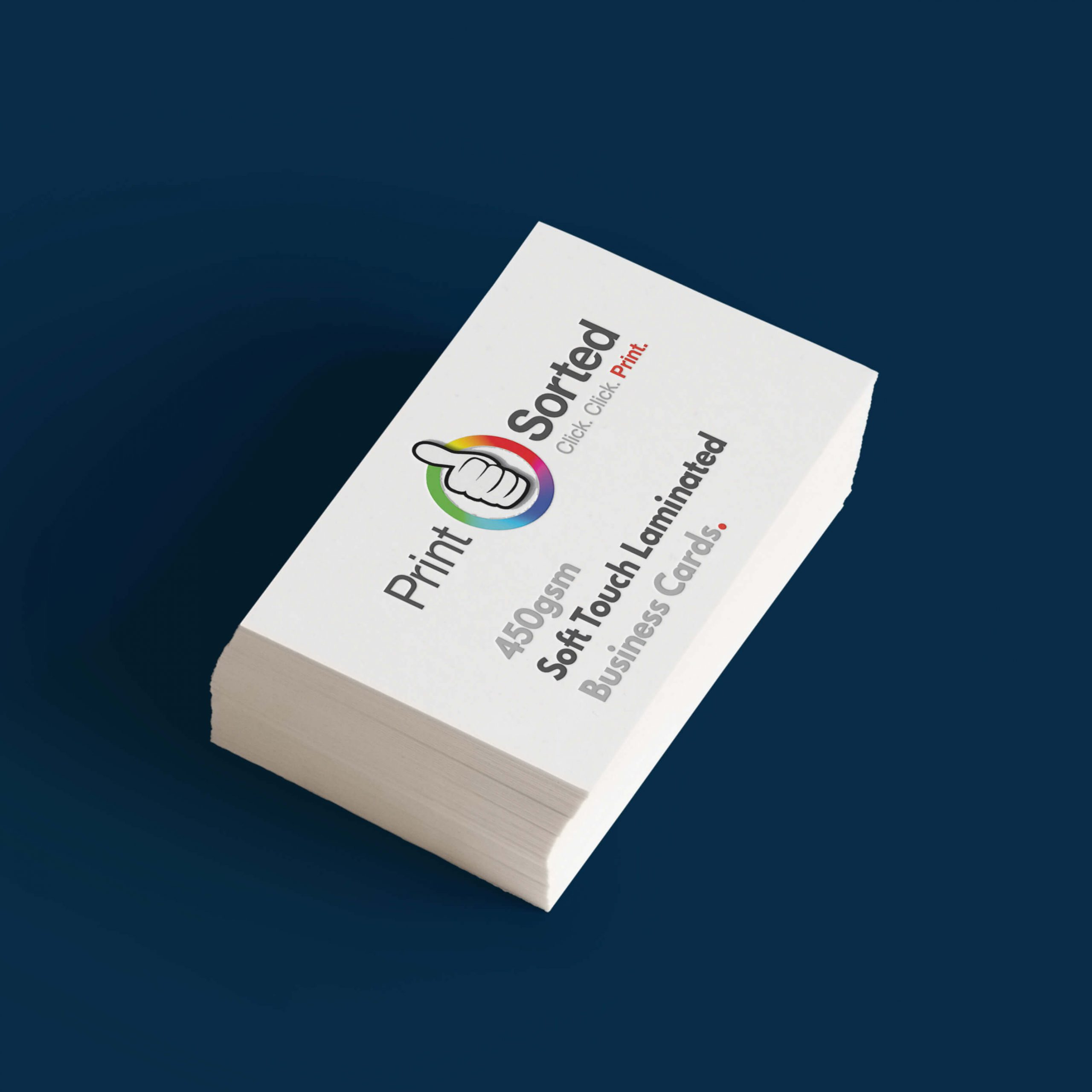 450gsm Soft Touch Laminated Business Cards by printsorted