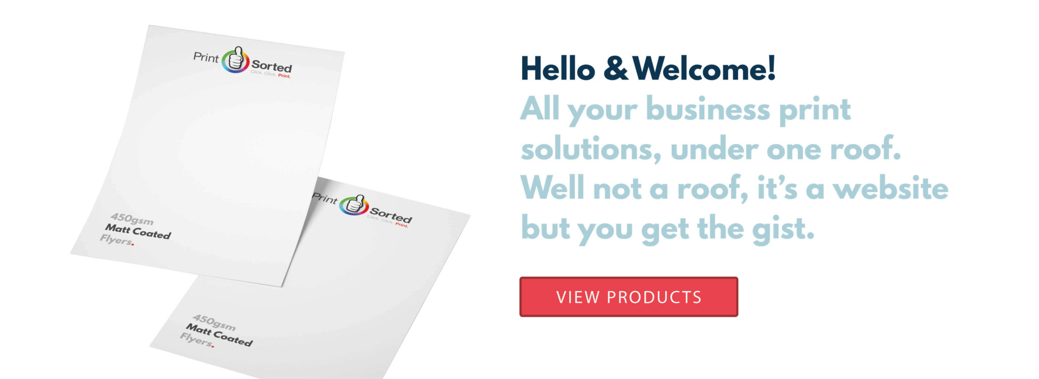 Hello & Welcome to Printsorted slide